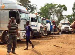 Total Gridlock in Abuja-Lokoja-Okene Highway as Truck Drivers Block Road in Protest...See Details